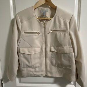 H&M cream blazer jacket